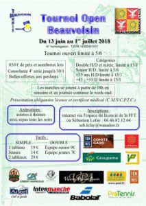 Beauvoisin : Tournoi Open @ Tennis club