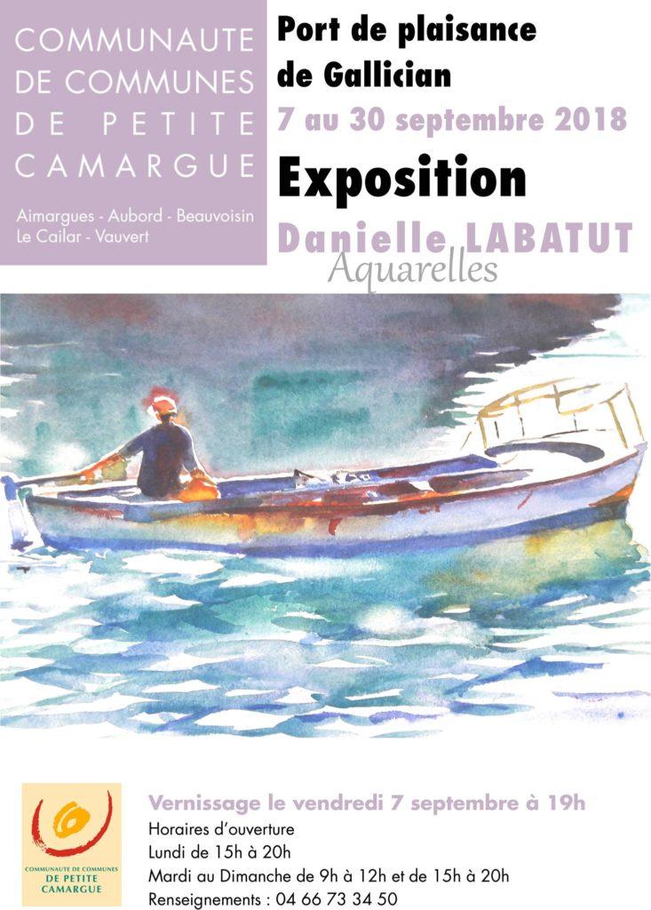 """Exposition de Danielle Labatut """"Aquarelles"""" @ Capitainerie du Port de Plaisance"""