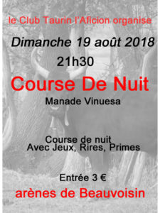 Beauvoisin : Course de Nuit @ Arènes