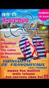 Franquevaux : Journée Plage  Guinguette chez Thomas @ Guinguette de Franquevaux chez Thomas