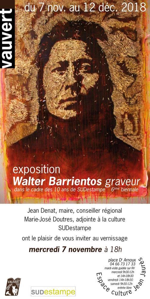 Exposition Walter Barrientos @ Espace Culturel Jean-Jaures | Vauvert | Occitanie | France