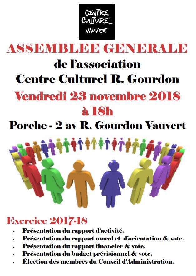 AG du Centre Culturel R-Gourdon @ Centre Culturel R-Gourdon