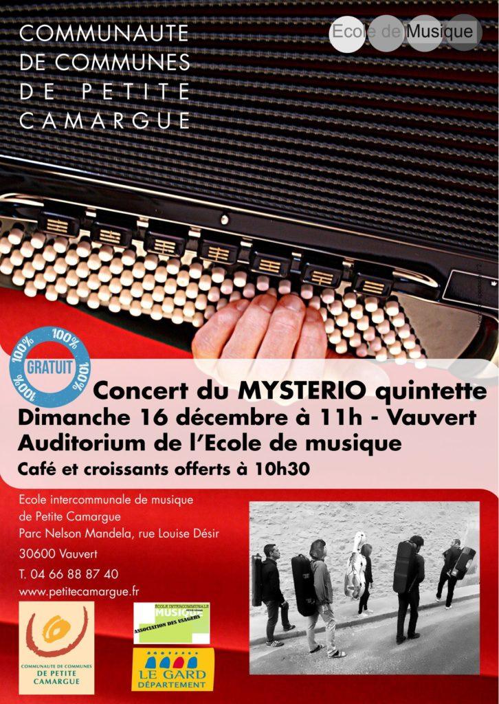Concert du Mysterio Quintette @ Auditorium de l'école de musique